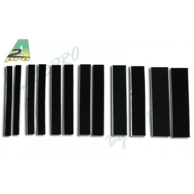 Velcro autocollant noir 25mm x 20cm