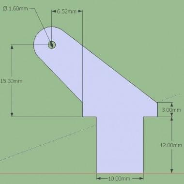 Guignol fibre 2mm, haut. 31mm (x5)