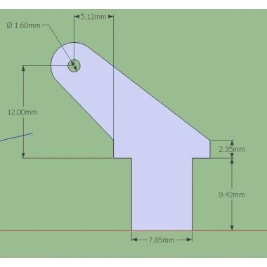 Guignol fibre 2mm, haut. 25mm (x5)