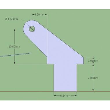 Guignol fibre 2mm, haut. 21mm (x5)
