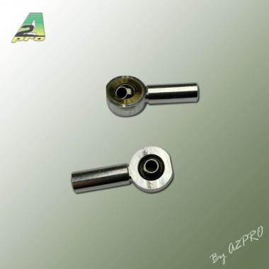 Chape rotule alu M3 (x2)