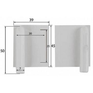 Cache servo 39x45mm (x2)