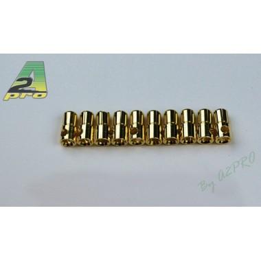 Connecteur PK mâle 6mm  (x10)