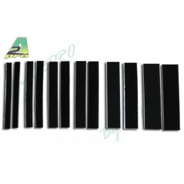 Velcro autocollant noir 50mm x 20cm