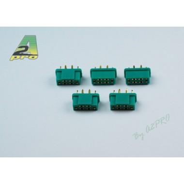 Connecteur MPX 6 pins mâle (x5)