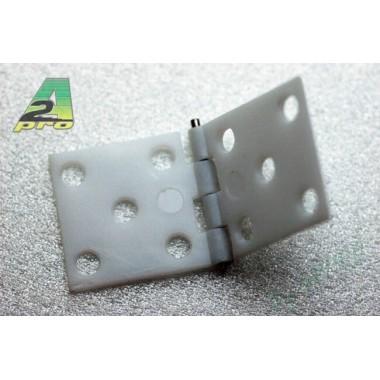 Charnière axe métal 34x16mm (x10)