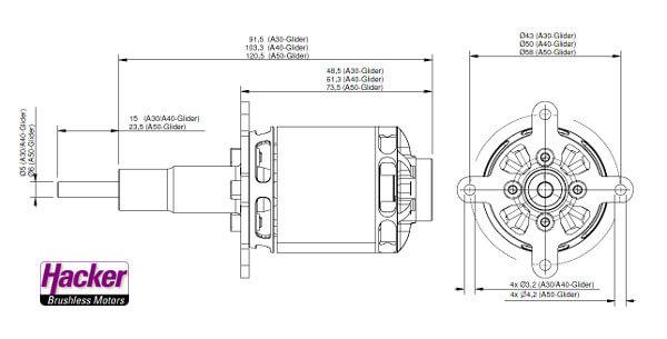 Moteur Hacker A30 12XL Glider